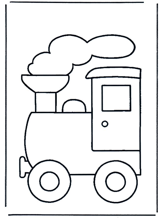Train Coloring Pageuse Cotton Balls On The Smoke And Have Them Write
