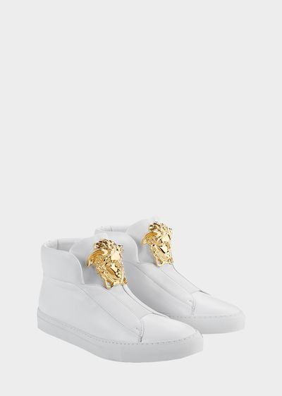 Palazzo High-Top Trainers - Versace Sneakers