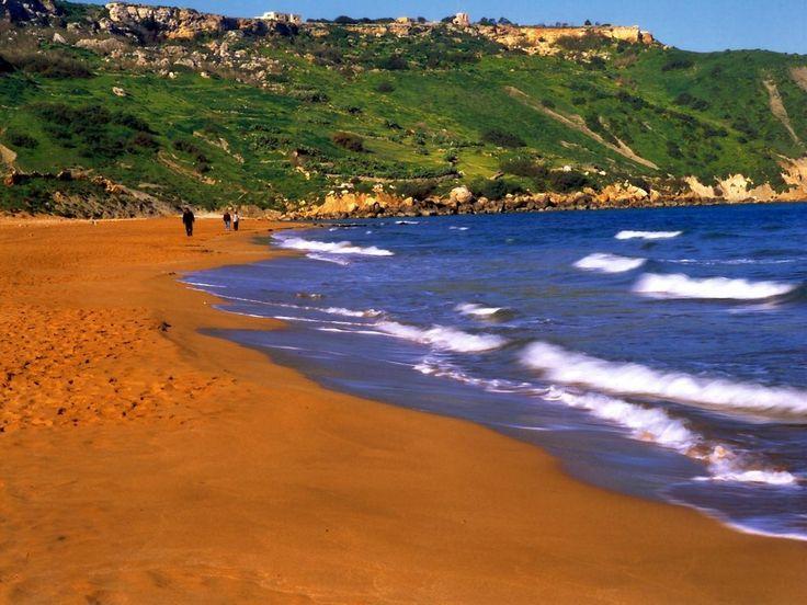 Мальтийский пляж острова Гозо