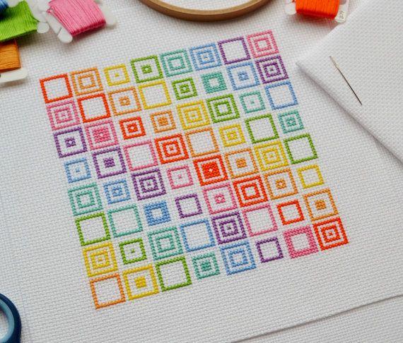 PDF Cross Stitch Pattern for Geometric por theworldinstitches