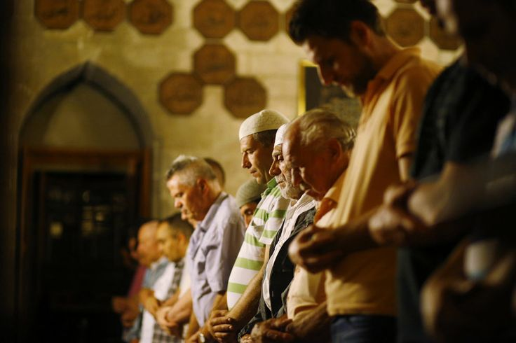 "Observing Ramadan | Muslims attend an evening communal prayer session called ""Tarawih"" to mark the holy fasting month of Ramadan at the Bajrakli mosque in Belgrade, Serbia, on July 9, 2013. 