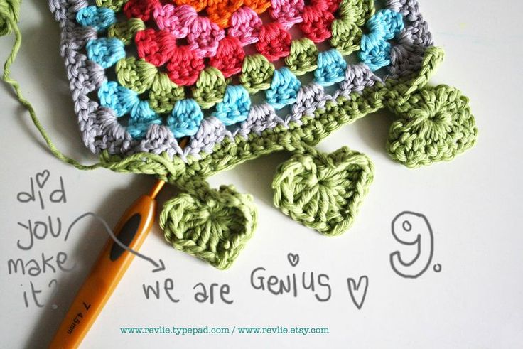 Crochet Heart Edge - Tutorial ❥ 4U // hf