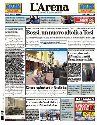 L'Arena - Il Giornale Di Verona  (24.02.2012)Italian | 80 Pages | PDF | 23.23 Mb