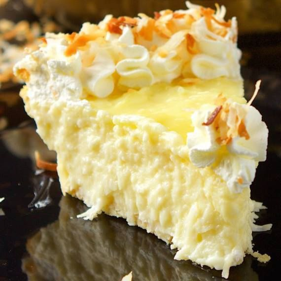 Coconut Cream Pie – This is a creamy coconut cream pie recipe. I mean look at how delicious it looks!!