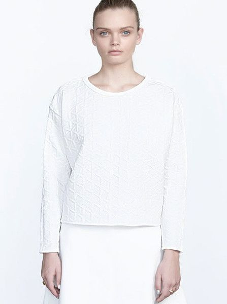 VIKTORIA & WOODS - Dynasty Cocoon Sweater - White Quilt $189.90