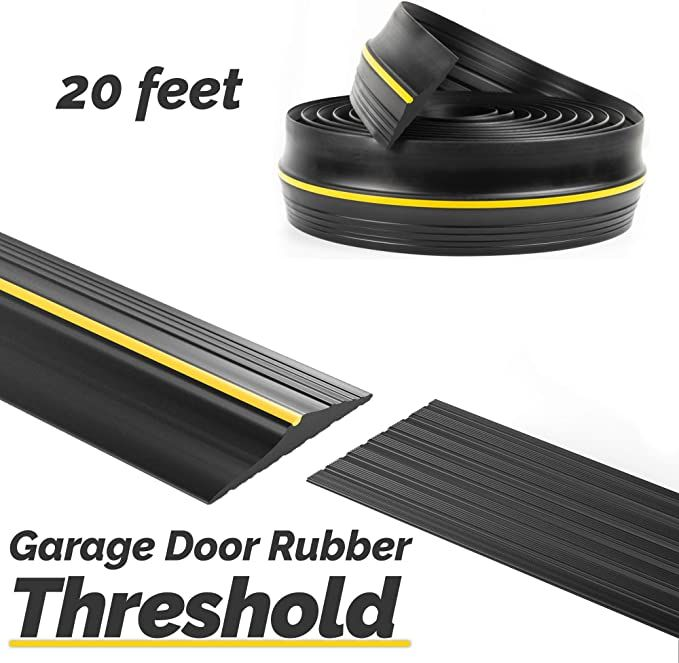 Panady Universal Garage Door Bottom Threshold Rubber Seal Strip 20ft Black Diy Weather Stripping Repl In 2020 Garage Door Threshold Garage Doors Garage Door Insulation