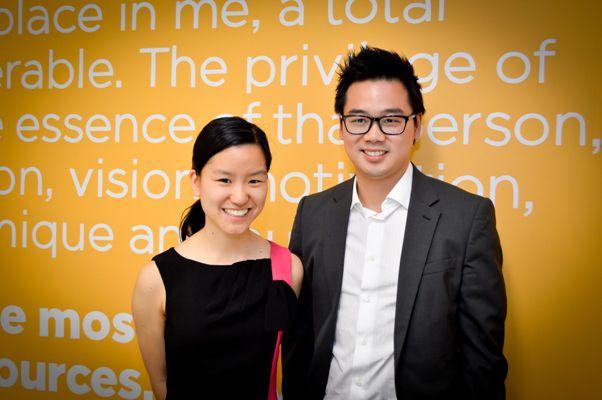 Young Australian of the Year 2013 Marita Cheng and Talent 100 founder Richard Chua- Talent 100 Hurstville launch