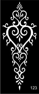 The henna tattoo stencils are self-adhesive and are suitable for Henna Tattoo, Glitter Tattoo and Air Brush Tattoo. USA quality standard. New and unique! Tattoo Stencil Template 4 Sheet Set beautiful Henna Designs
