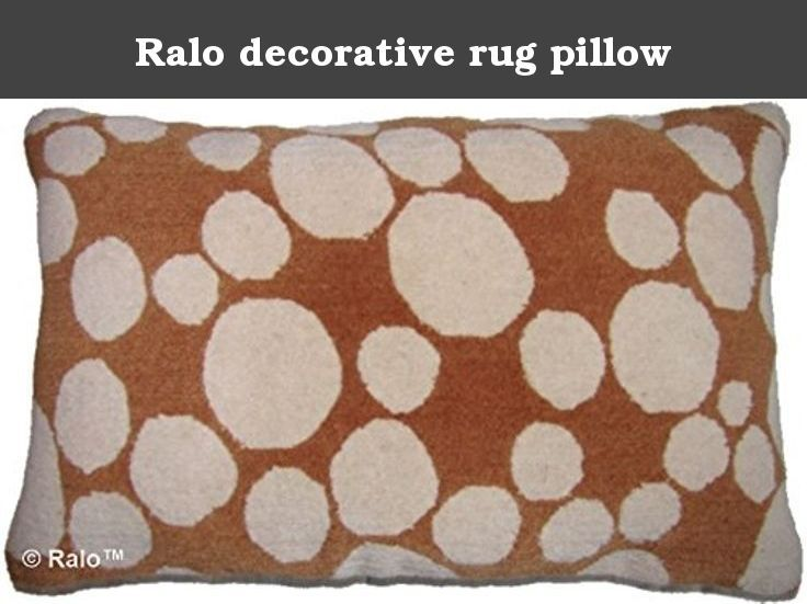 "Ralo decorative rug pillow. Dapple nutmeg 14"" x 24"" Unique rug pillow used meditation or decoration, 100% Tibetan wool, organic cotton backing brass fasteners, removable down feather pillow insert."