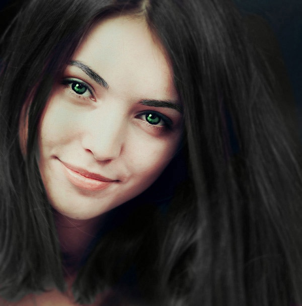 girl with dark brown hair and green eyes wwwpixshark