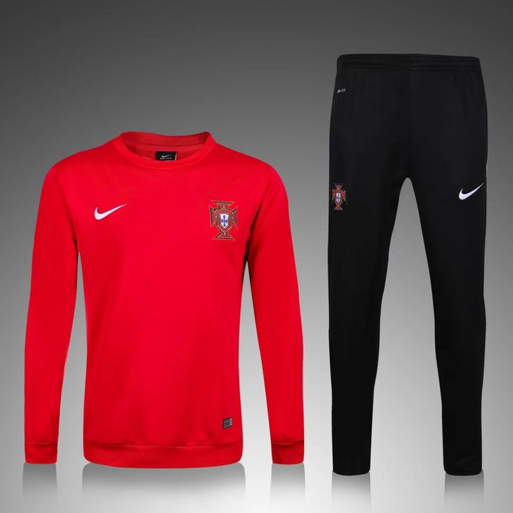 Portugal Euro 2016/17 Men Red Tracksuit Slim Fit
