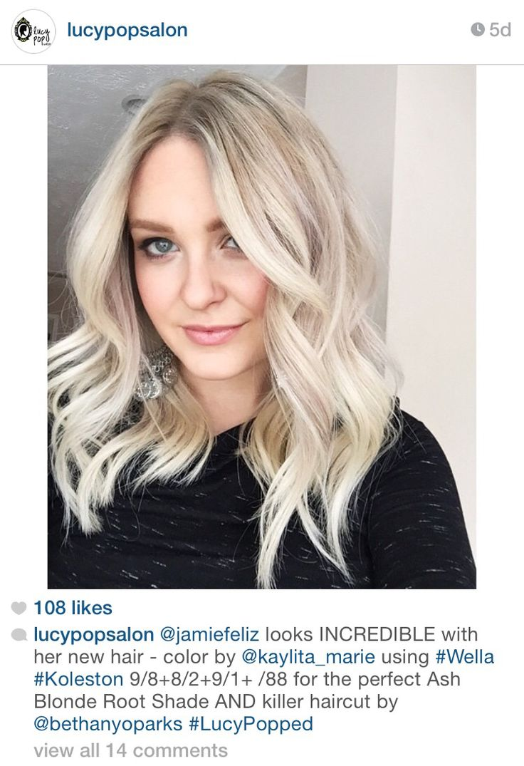 Lucy Pop Salon - Ash blonde root with white blonde