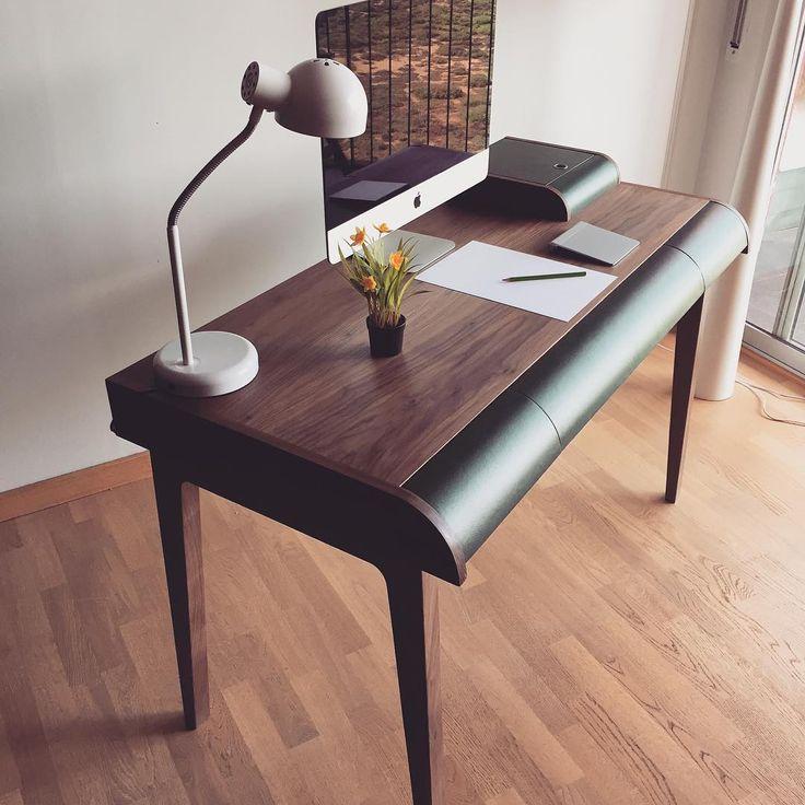 Furniture design, Desk, escritorio nogal, piel, walnut, Lignarius Barcelona