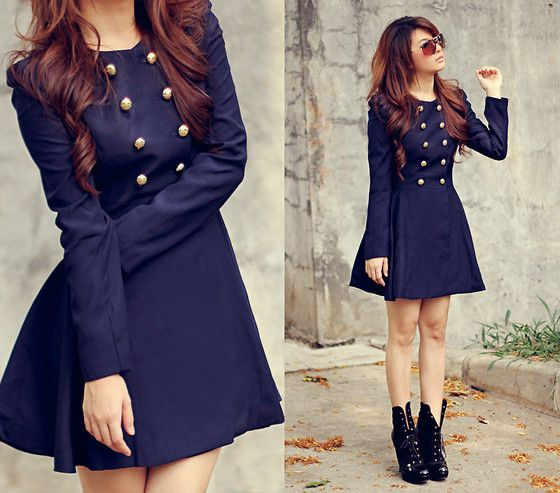 Romwe Trench Coat, Boots