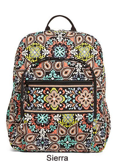 This Vera Bradley Campus Backpack has school covered with the size and