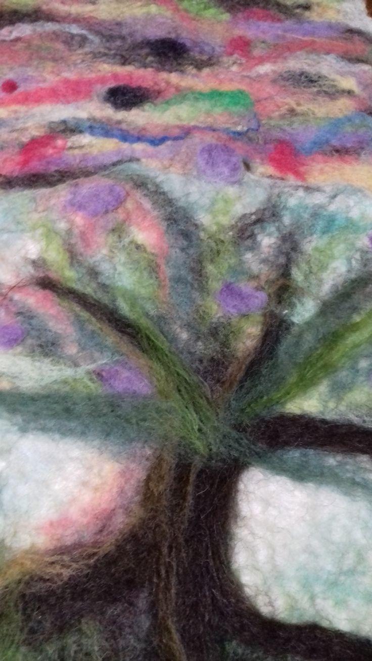 Árbol y Cielo pintura en vellon