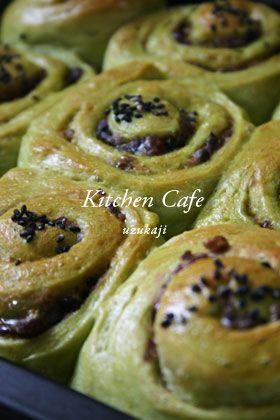 「うずまき抹茶あずきパン」uzukaji | お菓子・パンのレシピや作り方【corecle*コレクル】