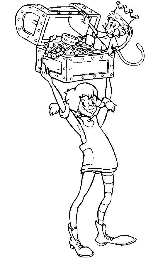 Pippi met schatkist