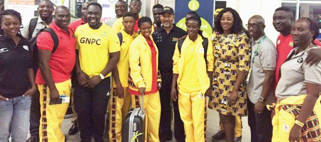 Team Ghana lands in Rio for 2016 Olympics (Photos)