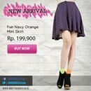 Perfect mini skirt for your Saturday night. Come on girls, get the collection on: www.ninetydegrees.co.id