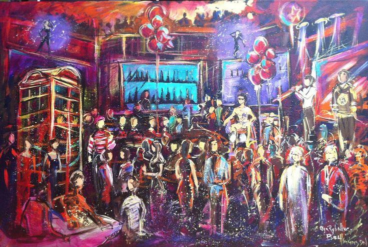 Live event art - Virgin Radio Halloween Party — Firebird Live Art