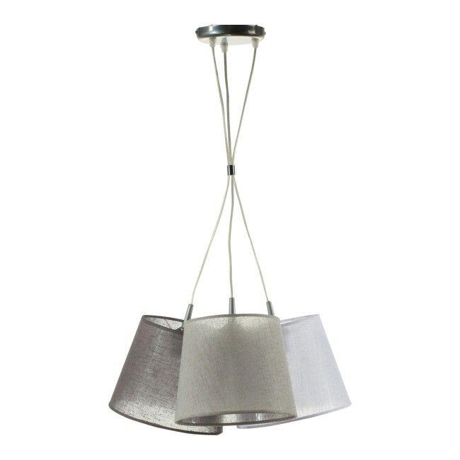 Lampa wisząca Rossa 3 x 40 W E27 szara