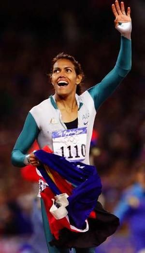 Australian runner Cathy Freeman became the first aborigine Olympic champion when she won gold in the 400m race in 2000.