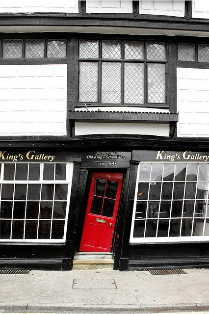 King's Gallery in Canterbury, Kent, England - photo by Scriblerus, via Flickr;  formerly the Old King's School Shop, built in 1647