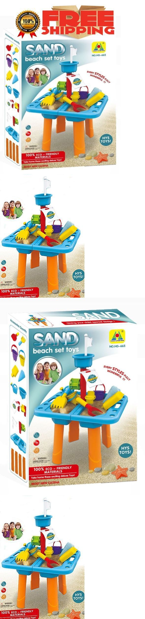 Sandbox Toys and Sandboxes 145990: Kids Sandbox 2 In 1 Sand And Water Wheel Table With Beach Sand Toys Set Outdoor -> BUY IT NOW ONLY: $34.5 on eBay!