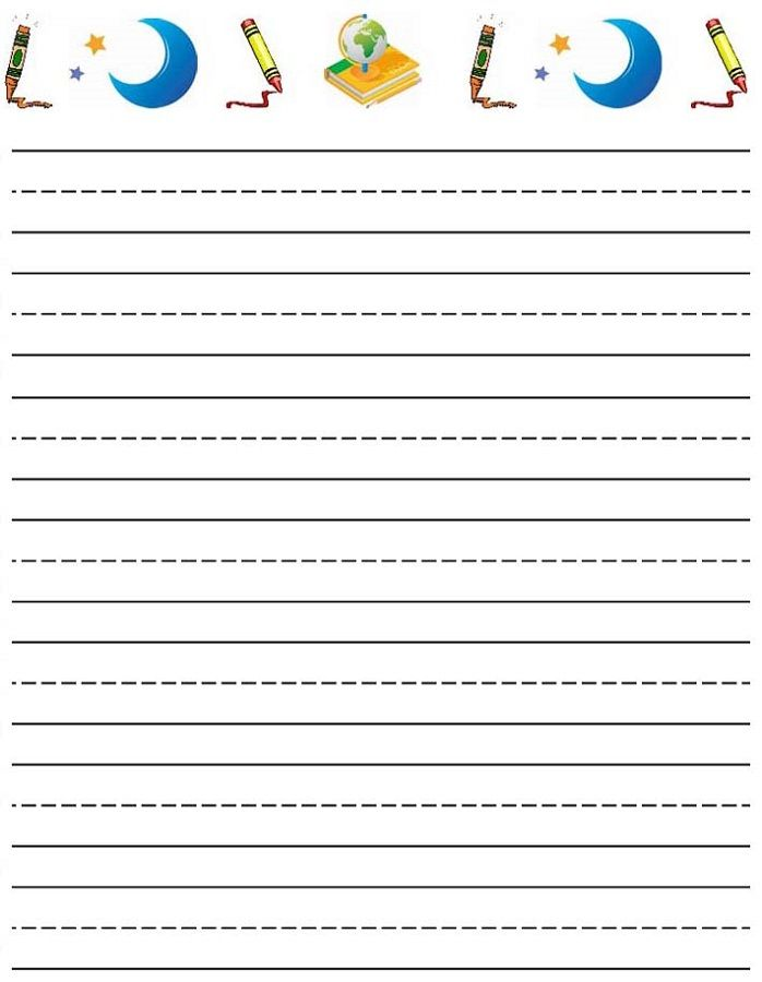 Lined Paper For Kids Kids Learning Activity Writing Paper Printable Lined Writing Paper Writing Paper
