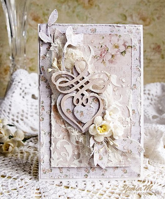 Скрап открытка льняная свадьба, яркие любви