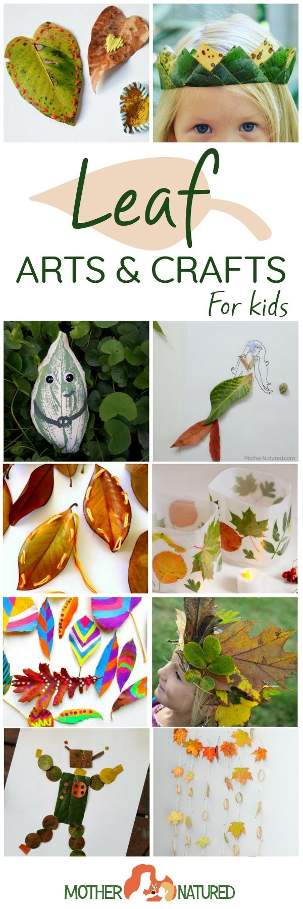 Leaf crafts for kids | Fall crafts for kids