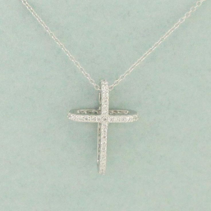 925 Sterling Silver Cross Pendant Necklace