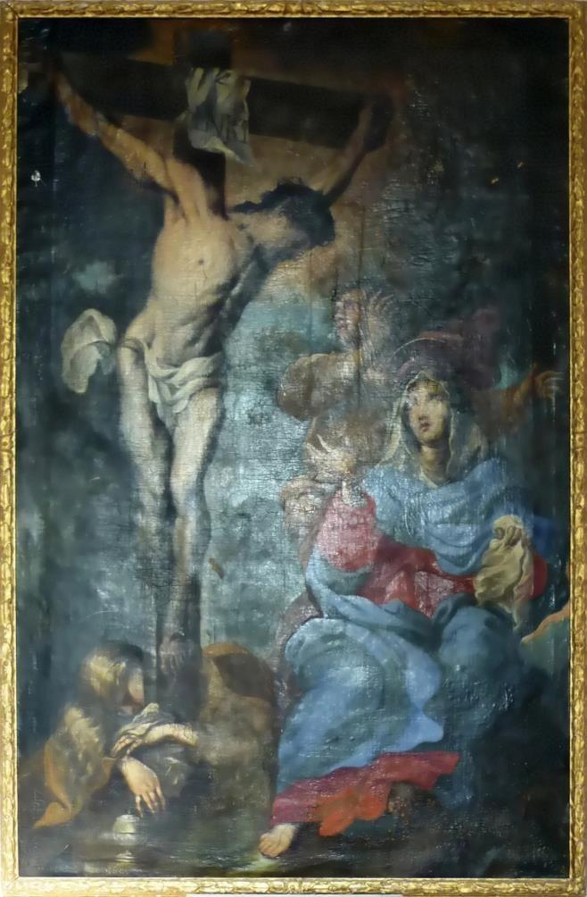 Il dipinto dell'altare prima del restauro
