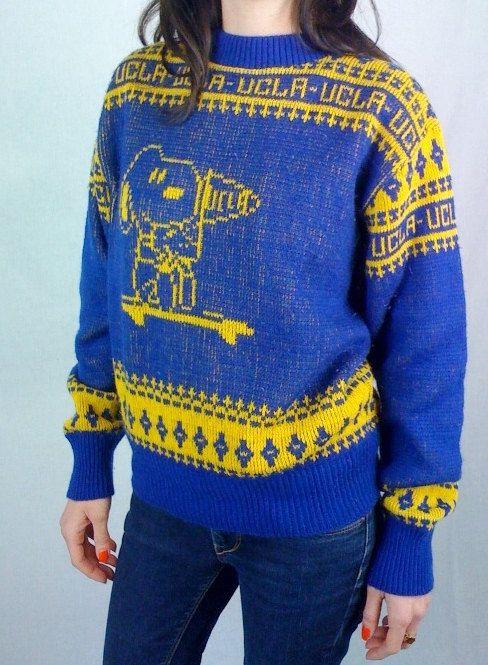 Vintage Snoopy & Woodstock UCLA Sweater