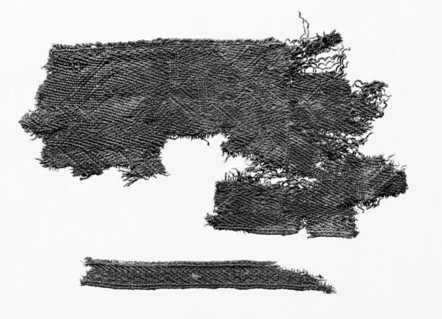 Tekstil, spjellvevsbord fra Snartemo II s.282 i Snartemofunnet av B. Hougen Fotoportalen UNIMUS
