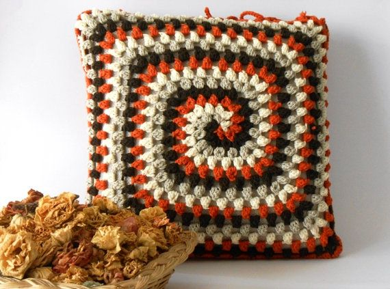 crochet pillow cover merino wool crocheted cushion by cosediisa, €59.00