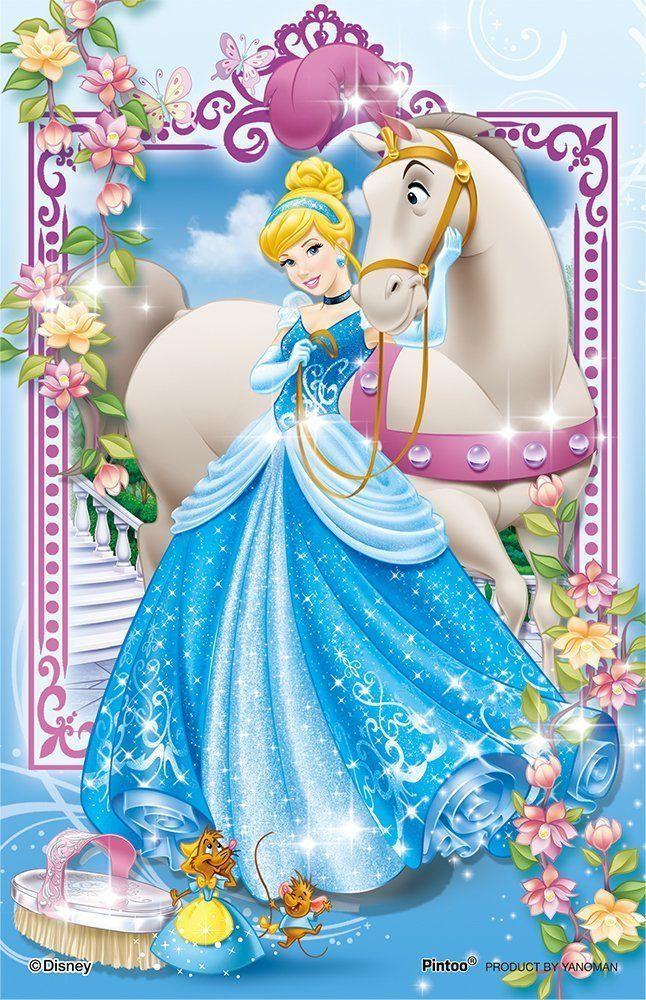 Yanoman Clear Stand Jigsaw Puzzle 2500-10 Disney Cinderella (132 Pieces)