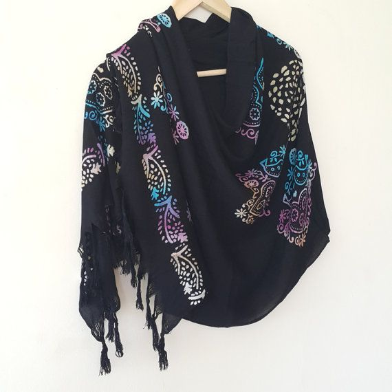 Check out this item in my Etsy shop https://www.etsy.com/listing/456513204/turkish-scarf-cotton-hand-printed-black