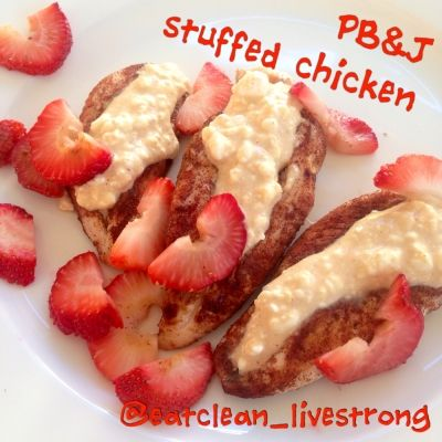 Ripped Recipes - Peanut Butter and Jelly Stuffed Chicken - if you like pb&j you will LOVEEEE THISSSS<3