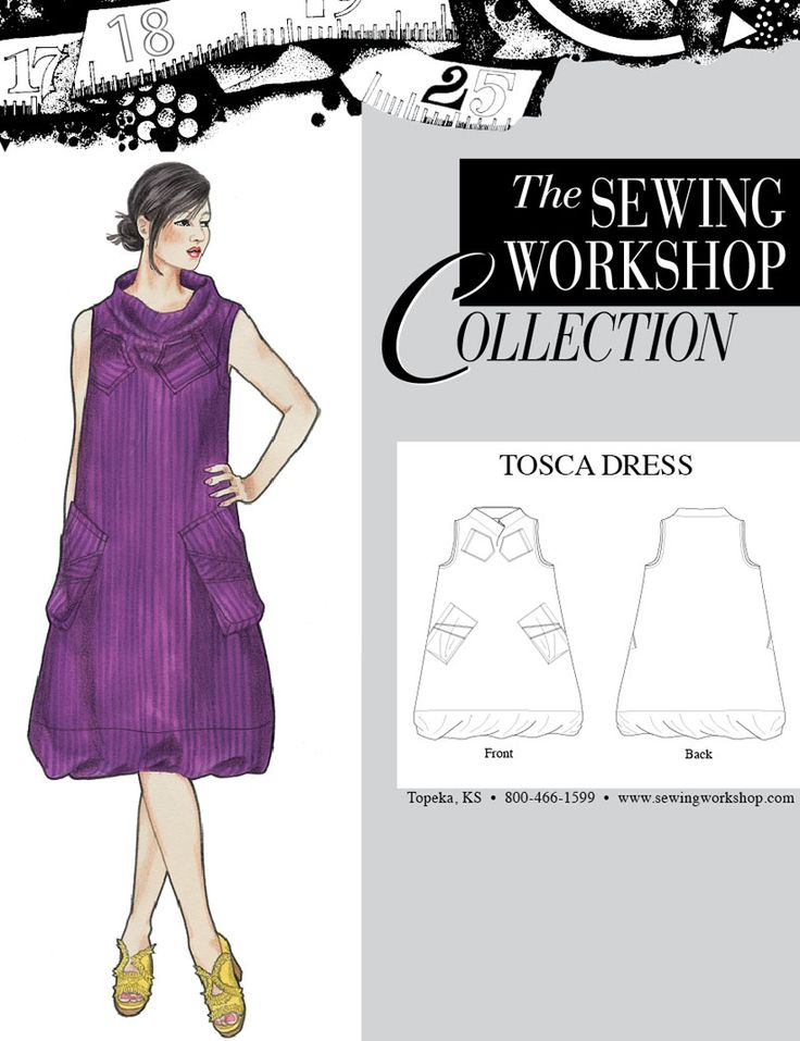 The sewing workshop collection tosca dress