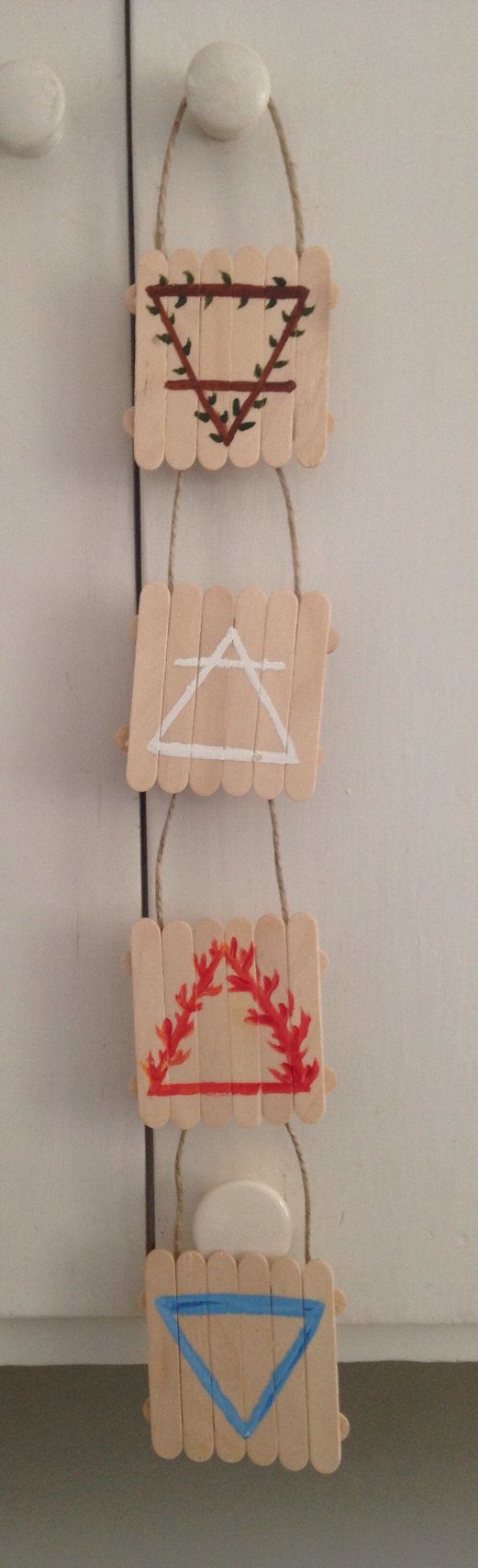 4 elements earth air fire water witchy pagan wiccan home decor wall hanging…