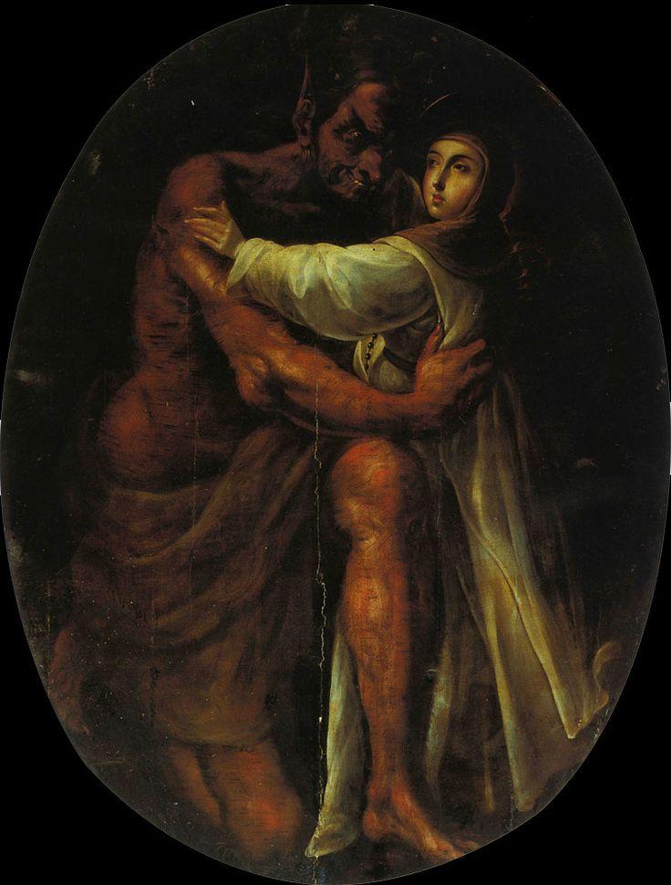 "ordopraedicatorum: "" Cristóbal de Villalpando - Saint Rose attacked by the Devil """