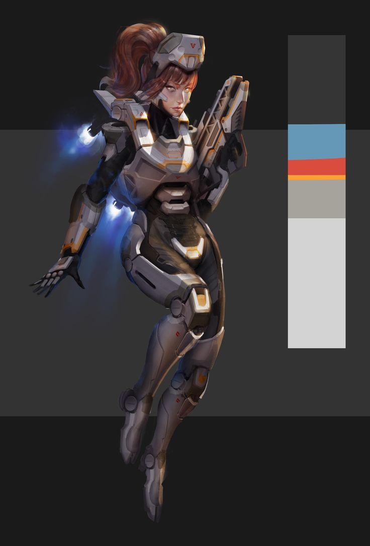 ArtStation - Air assault armor concept, Alex Pei
