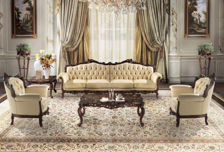 CECHOV Classic luxuryv italian sofa and armchairs