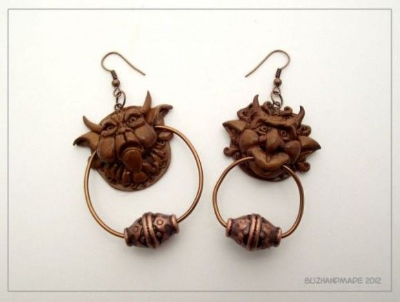 Labyrinth Doorknocker Earrings I would totally wear them.