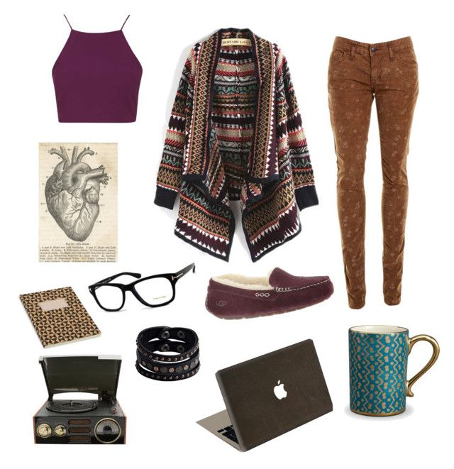"""Cosima Niehaus #4"" by cate-crafter ❤ liked on Polyvore featuring Free People, Topshop, UGG Australia, L'Objet, Tom Ford, Replay, Valentine Goods, OrphanBlack and Cosima"