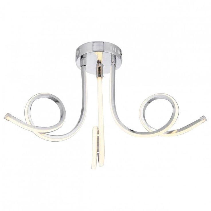 Üçlü Dalgalı Dekoratif, LED'li Modern Sarkıt Avize 51728-01-C03-CR