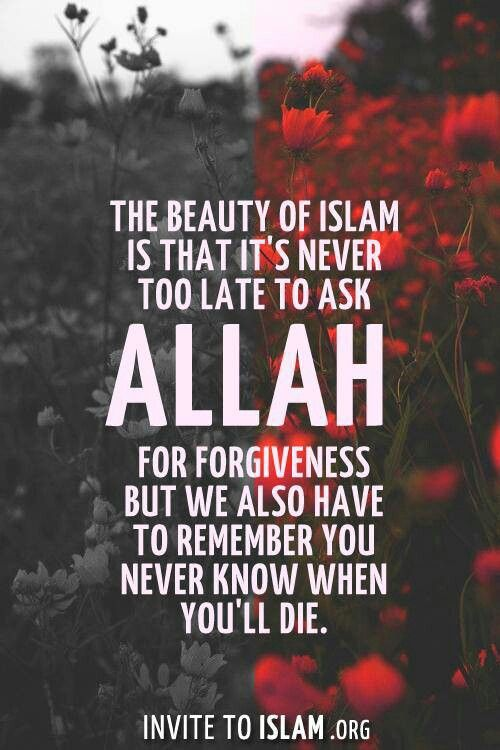 Please forgive my shortcomings, Allah.