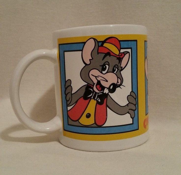 Chuck E Cheese's | 12 oz coffee Mug Cup, mouse, 1994 ShowBiz Pizza Time Inc | eBay